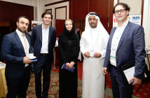 Daan Elffers, Bjorn Sanders, Zeljka Davis and partners at CSR Saudi Arabia 2014