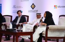 Daan Elffers moderates panel discussion in Jeddah