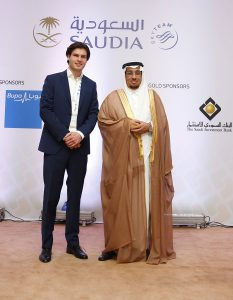 Drs Daan Elffers, chairman of CSR Summit in Jeddah, here with VP of Saudia Airlines
