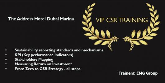 VIP CSR training courses Dubai at The Address Hotel Marina